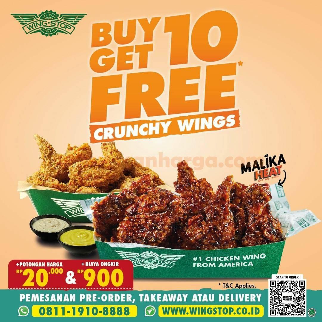 Promo WINGSTOP Terbaru 27-28 September 2021 - GRATIS 10 Crunchy Wings