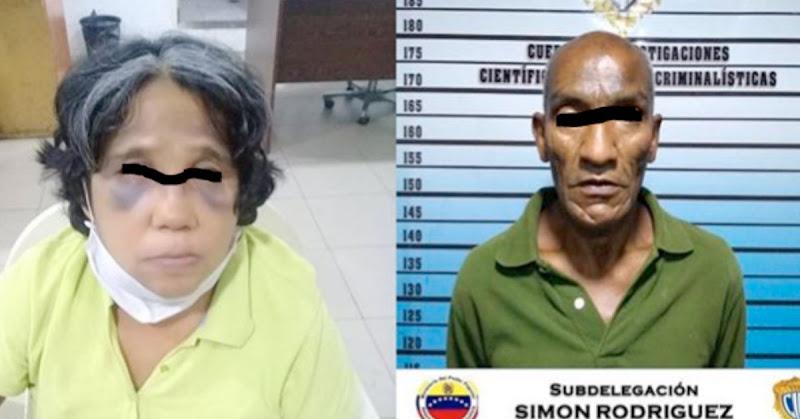 Viejo degenerado le cayó a cuchilladas a su mujer  y fue detenido en la Francisco Solano