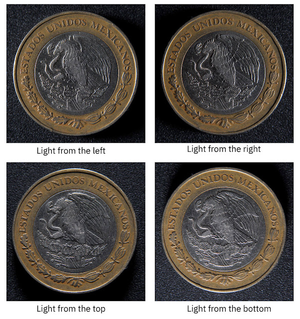 how to photograph coins