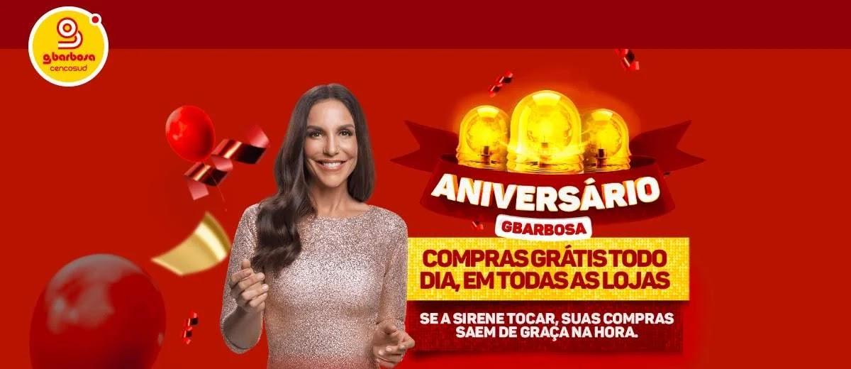 Promoção GBarbosa 2020 Aniversário Compras Grátis Direto Caixa - Ivete Sangalo