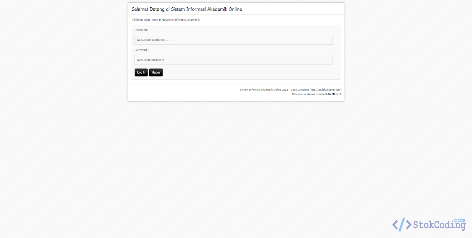 Sistem Informasi Akademik Kampus Online (Codeigniter)
