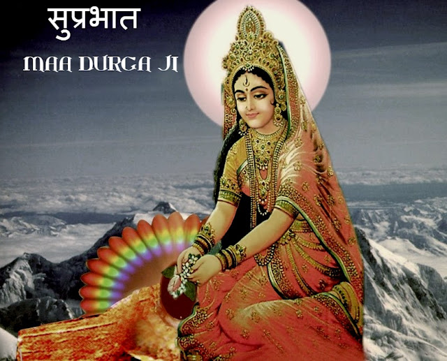 Ma Durga ji  hd wallpapers with good morning messages