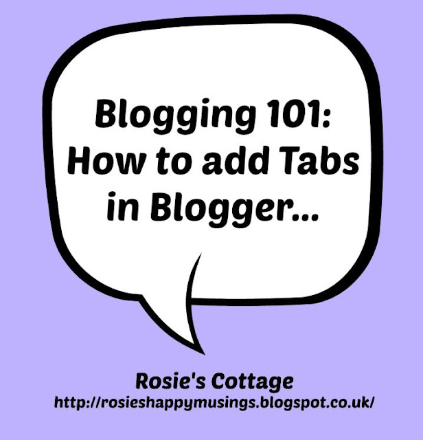 How to add tabs in Blogger