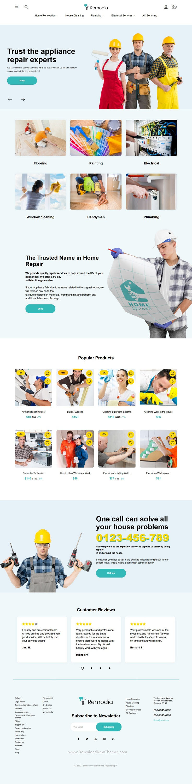 Home Repair Service PrestaShop Theme