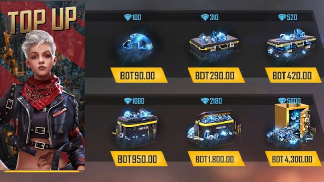 Free Fire Diamonds: How to recharge diamonds in Free Fire?