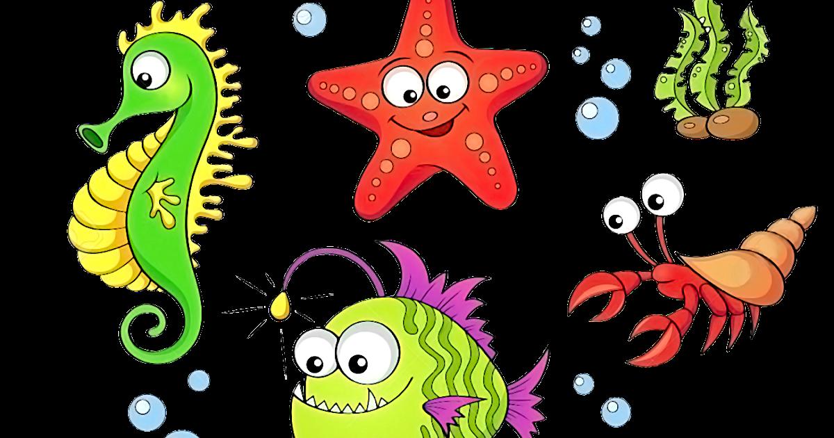 Морские обитатели картинки мультяшные