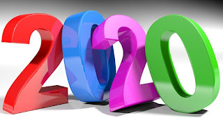 Colorful 3D numbers for 2020
