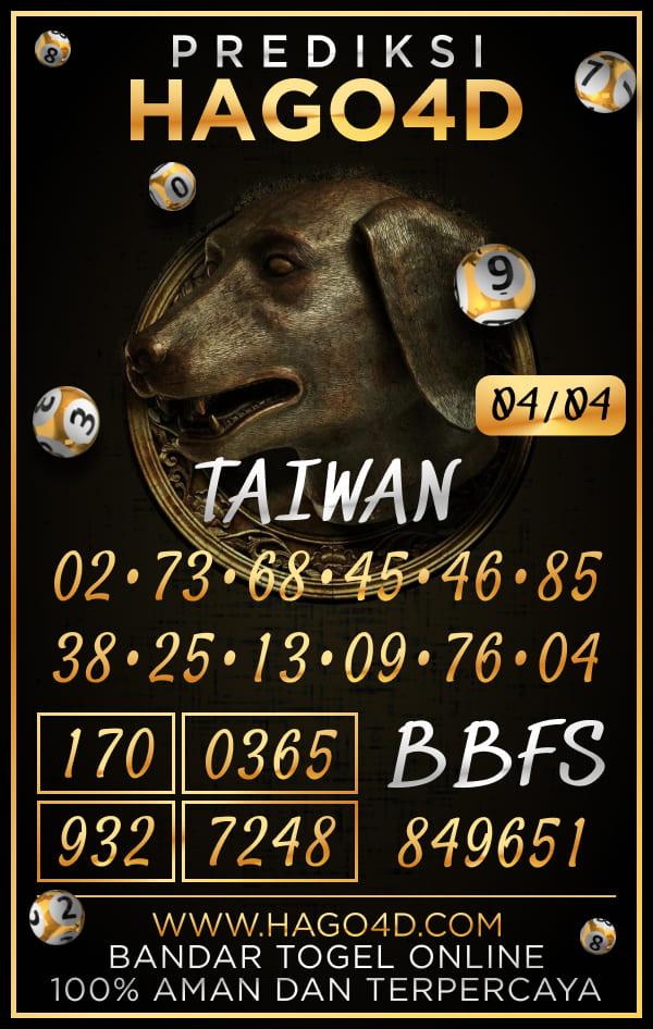 Prediksi Hago4D - Kamis, 4 April 2021 - Prediksi Togel Taiwan