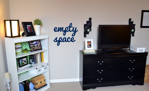 Empty space on the wall