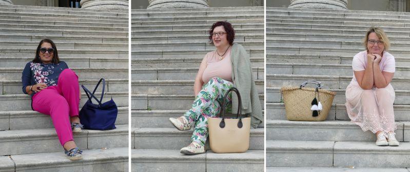 Claudia, Ursula und Sabine auf den Stufen zur korinthischen staatlichen Antikensammlung