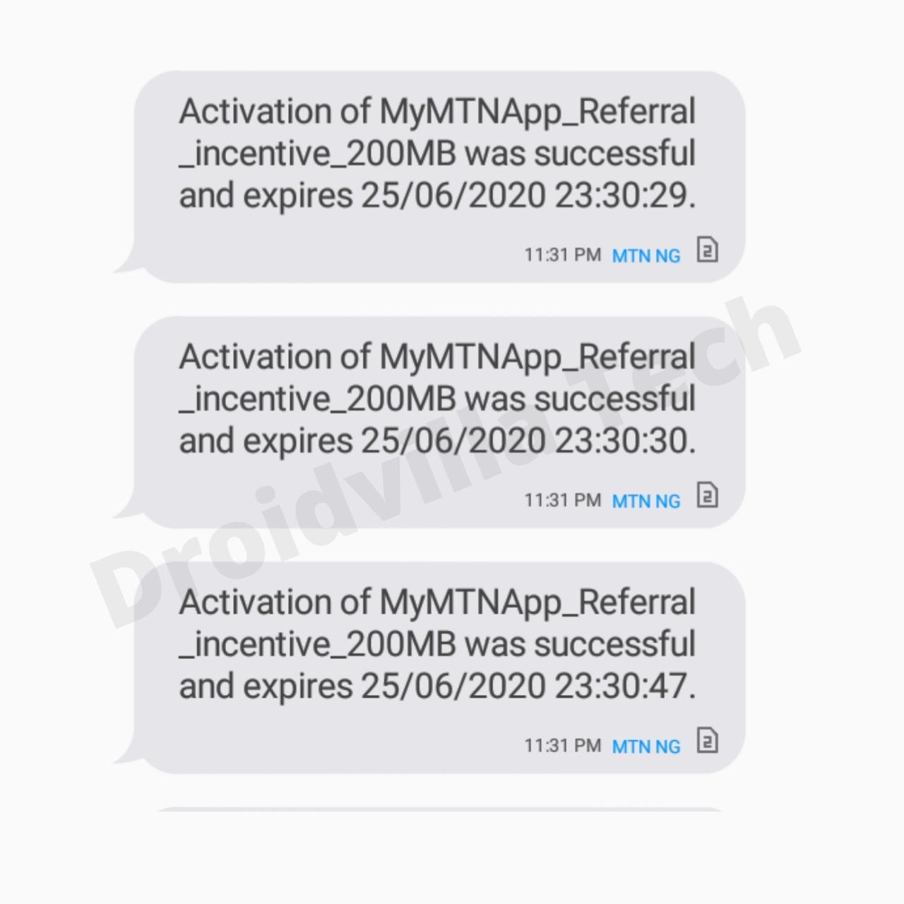 MyMTNApp 200mb Accumulation cheat