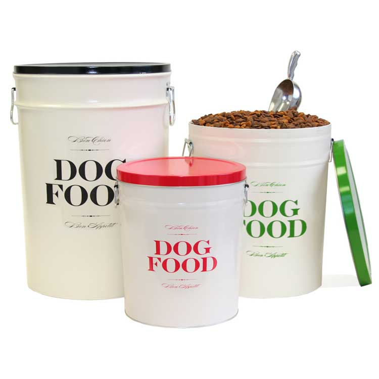 Metal Dog Food Storage Container And Bowl