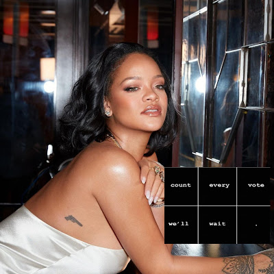 Rihanna Demands All Votes Counted As Trump Supporters Protest In Detroit & Phoenix