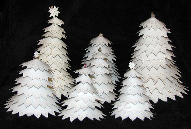 How to make big christmas tree out of paper