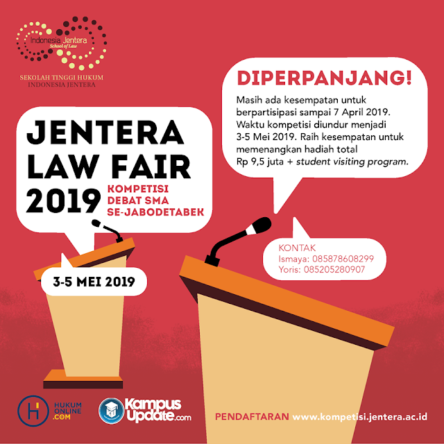 Lomba Debat Jentera Law Fair 2019 SMA Sederajat se-Jabodetabek