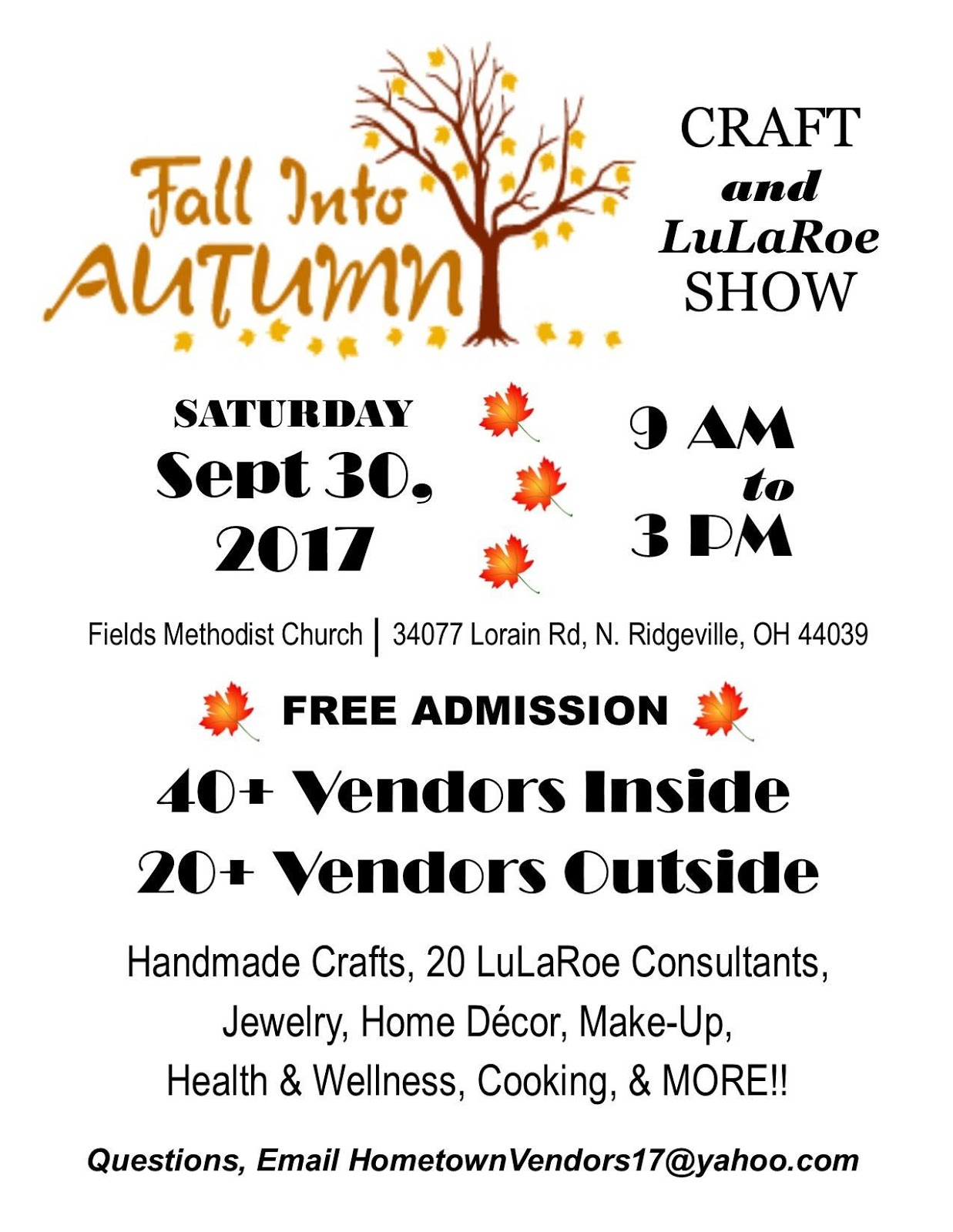 Start By Shopping Outside With 20 LuLaRoe Consultants. Then Head Inside To  Shop With Over 40 Local Small Businesses And Crafters.