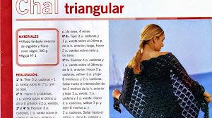 Cómo tejer un chal triangular - Revista