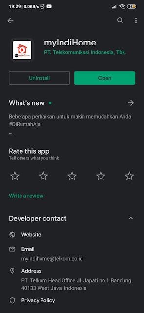 Install Aplikasi Myindihome