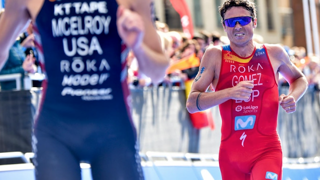 Javier Gomez Noya acaba tercero en  World Triathlon Series Leeds 2019