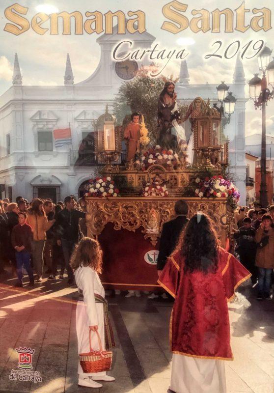 Una fotografía de Juan Martín ilustra el cartel de la Semana Santa de Cartaya