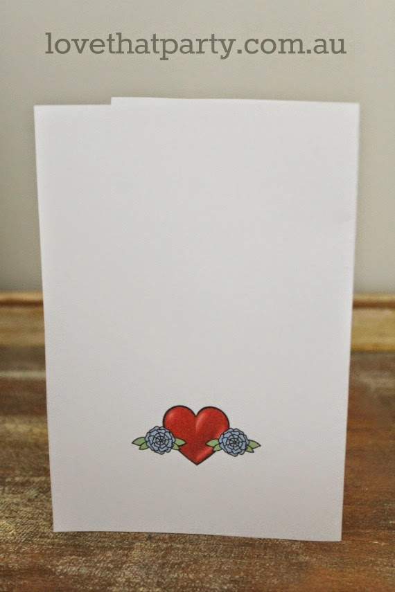 Free Printable Mother's Day Card - Mum Heart Tattoo by Love That Party. www.lovethatparty.com.au