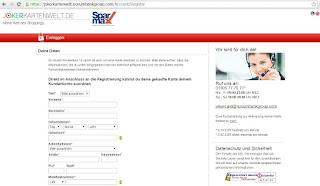 Handynummer für registrierung