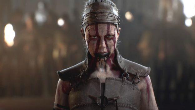 Uma captura de tela do Hellblade