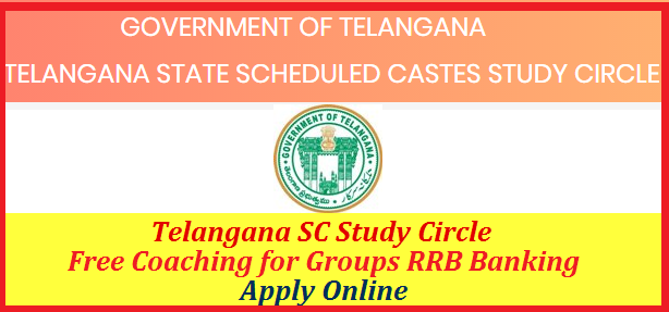 Telangana SC study circle inviting Online Applications from eligible and intended candidates for Entrance Exam to getr Admission into Foundation course for TSPSC Group I II III IV Notifications and SSC RRB Banking services Recruitment Exams. Get Details here about TS SC Study circle Entrance Exam for Foundation course Apply Online Exam Pattern Selection Procedure ts-sc-study-circle-foundation-course-free-coaching-entrance-exam-apply-online-exam-pattern-dates-selection-procedure-details