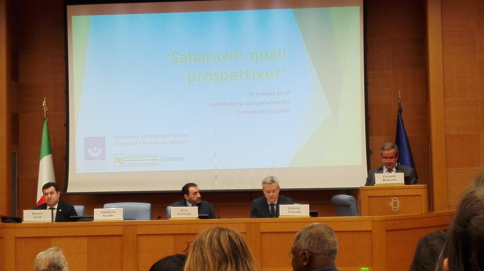 Poemario por un sahara libre celebraci n en roma del acto for Concorsi parlamento italiano 2017