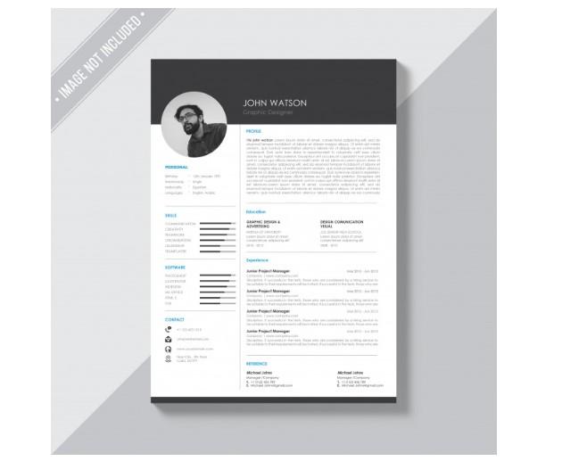 Unduh CV psd minimalis