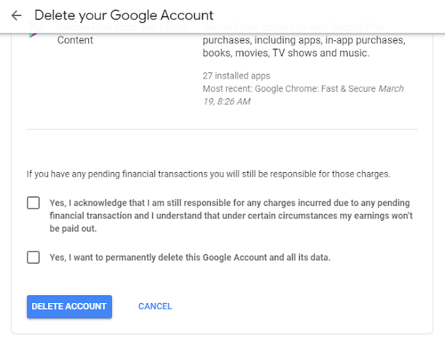 Delete Your Google Account Forever