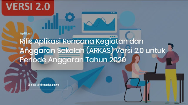 Aplikasi Arkas Versi 2.0 Tahun 2020