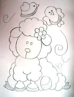 risco de ovelhinha para pintar