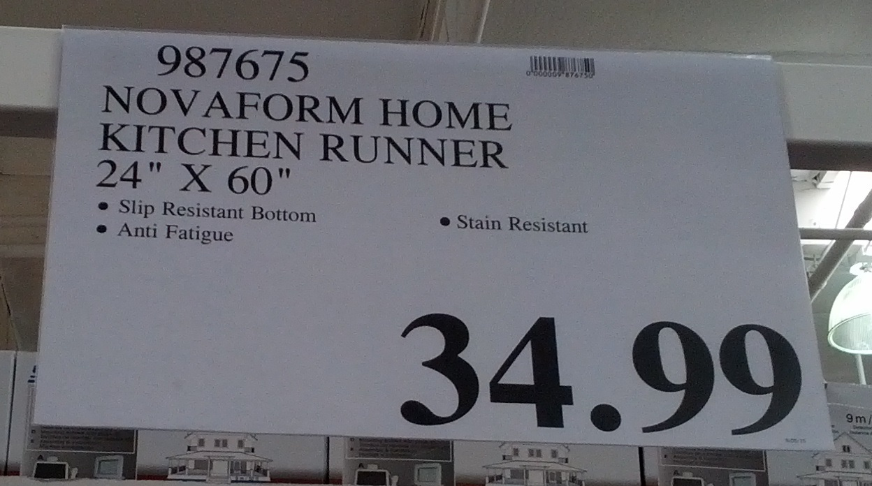 Novaform Home Anti Fatigue Kitchen Runner Mat Costco
