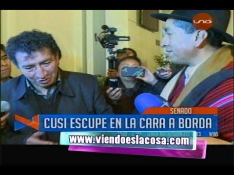MAGISTRADO CUSI ESCUPE EN LA CARA AL DIPUTADO MASISTA VÍCTOR BORDA