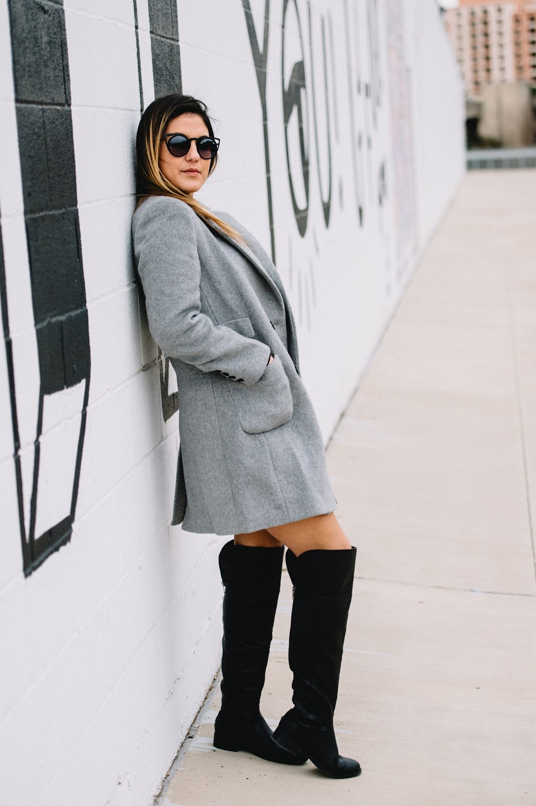 Dezzal Gray Lapel Coat -- @taylorwinkelmeyer
