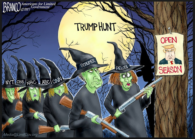 Trump Hunt Trimp witchhunt cartoon