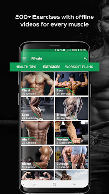 Fitvate Gym Workout Trainer Fitness Coach Plan Full النسخة الكاملة