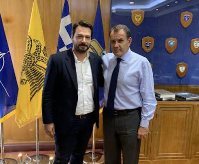 Συνάντηση με τον Υπουργό Εθνικής Άμυνας κ. Νίκο Παναγιωτόπουλο πραγματοποίησε ο βουλευτής Ημαθίας Τάσος Μπαρτζώκας, μετά και την Ερώτηση που κατέθεσε στη Βουλή σχετικά με την 1η Μεραρχία Πεζικού.