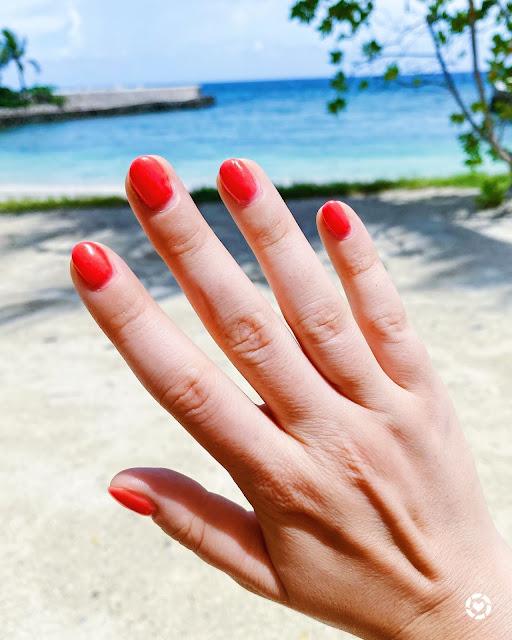 Hot Pink Gel Mani Short Nails || Tori's Pretty Things