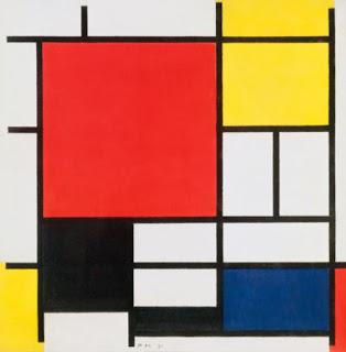 Composition avec rouge, jaune, bleu et noir - Piet Mondrian