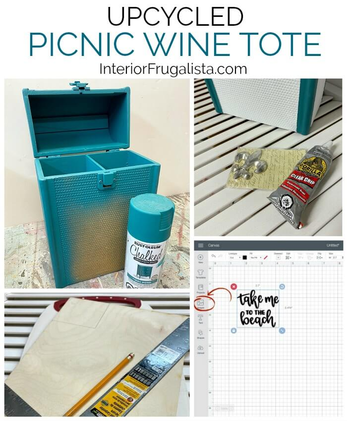 Upcycled Picnic Wine Tote