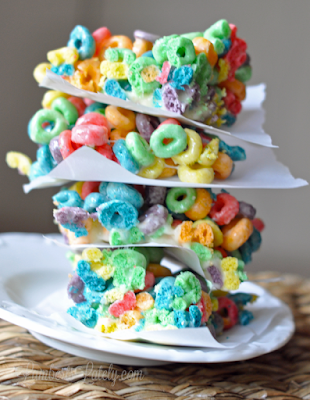 Fruit Loop Treats || Cereal Marshmallow Dessert Recipe