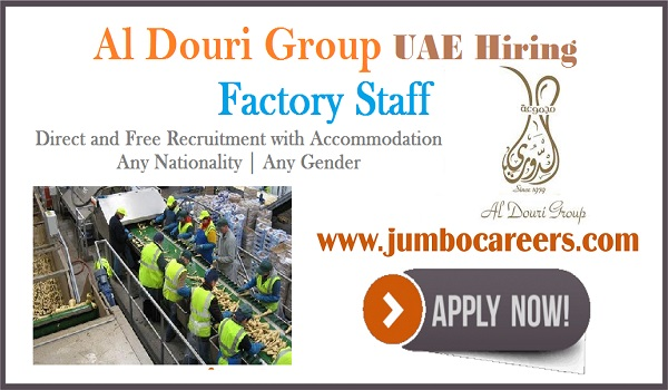 Urgent factory staff jobs in Sharjah, Current jobs opening in Sharjah with accommodation,