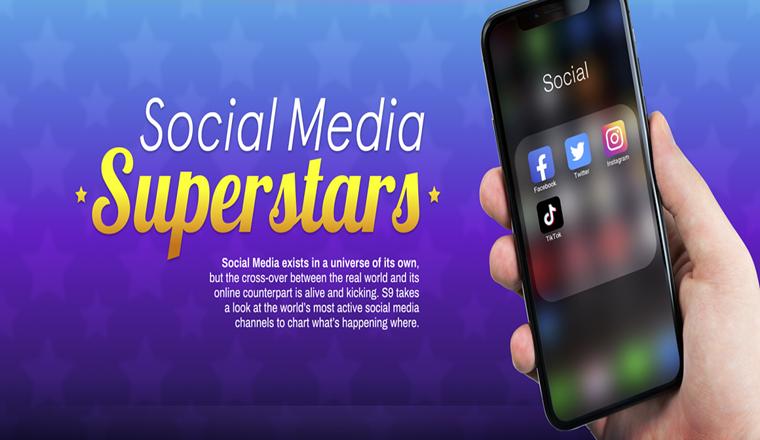 Social Media Superstars #infographic