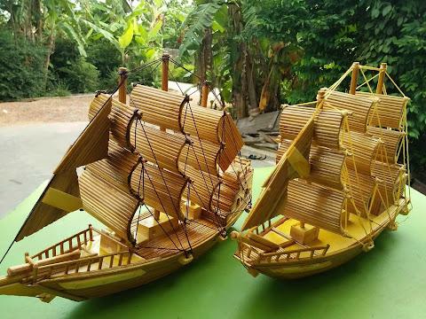 Thuyền buồm Tăm tre món quà tặng độc đáo