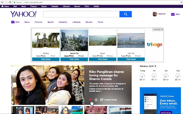 new Yahoo Philippines Homepage