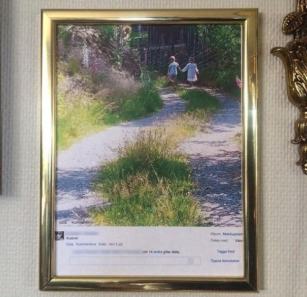 25 Hilarious Times Our Grand Parents Failed To Use Social Media - My Friends Mom Printed And Framed A Picture From Facebook