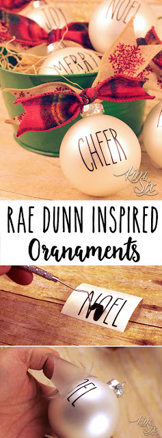 A super fast FIVE MINUTE method for making Rae Dunn Inspired christmas ornaments. There is even a step by step video tutorial that walks you through the process in real time!