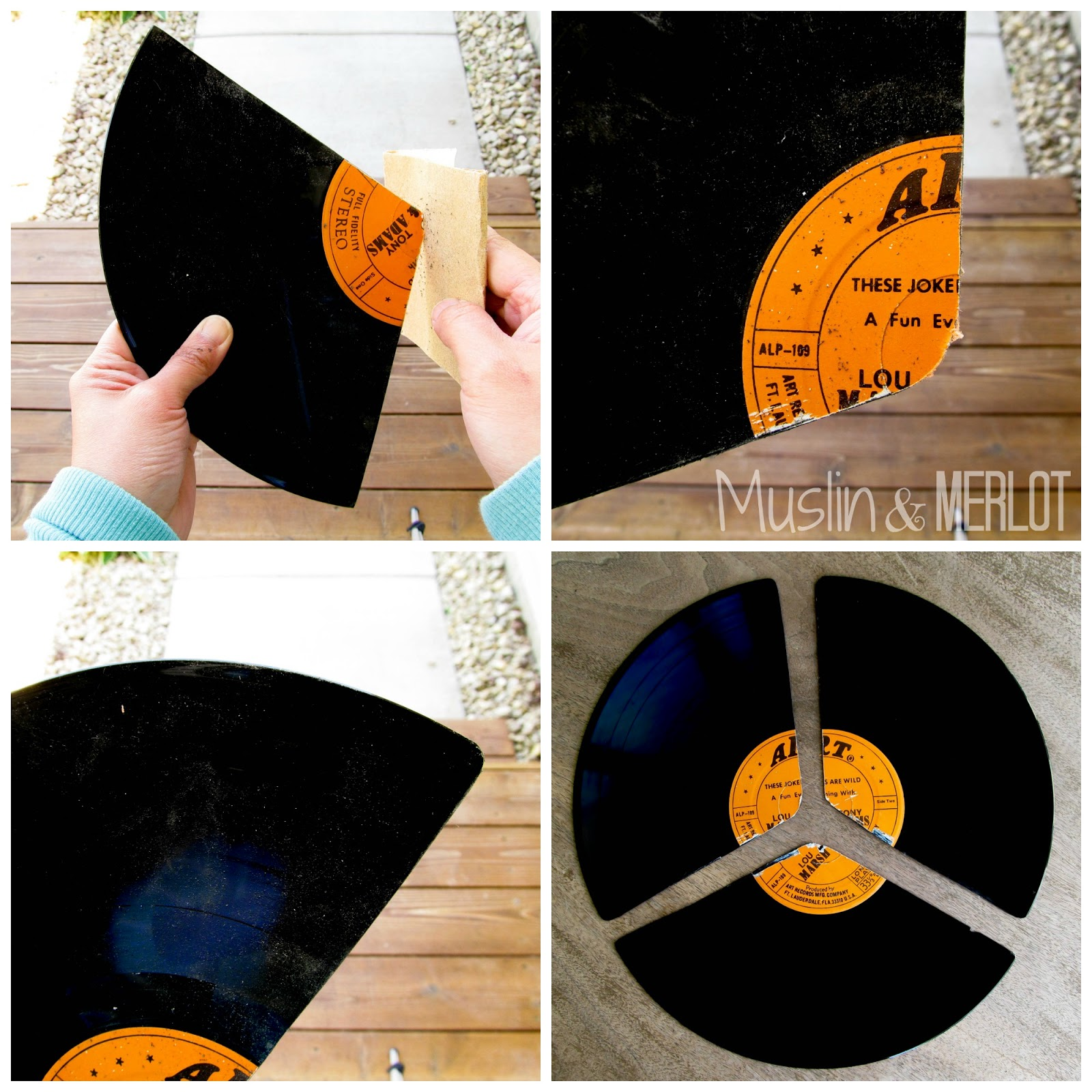 Turn old records into fans! No-heat project. #repurpose #upcycle